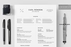 resume cv carl ronson resume templates creative market