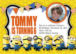 Samples Of Birthday Invitation Cards Despicable Me Birthday Invitations U2013 Gangcraft Net