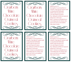 printable shot recipes cranberry white chocolate oatmeal cookie in a jar recipe with free
