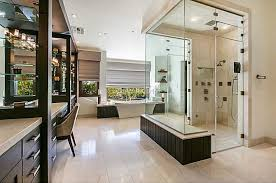 modern master bathroom with master bathroom u0026 freestanding bathtub