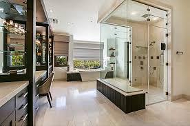 modern master bathroom with master bathroom u0026 freestanding bathtub