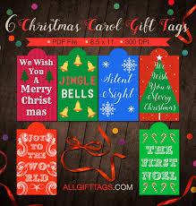 carol gift tags