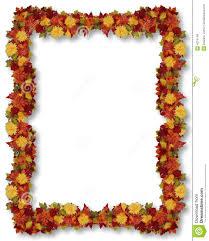 thanksgiving fall leaves frame stock illustration image 4074148