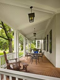 White Beadboard Ceiling by Stained Beadboard Ceiling Balcony Traditional With White