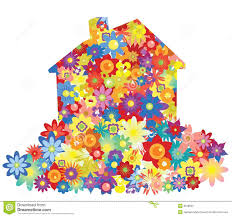flower house vector flower house stock vector image of exterior decoration