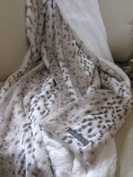 Restoration Hardware Faux Fur Kvh By Kelly Van Halen Faux Fur Snow Leopard Ivory Minky