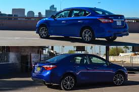 nissan sentra blue comparison nissan sentra sr vs toyota corolla s six speed blog