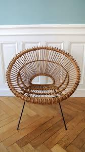 fauteuil en corde fauteuil en rotin des années 50 janine abraham solveig vintage