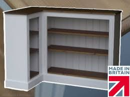 wooden corner bookcase 100 solid wood corner bookcase low 4ft white painted u0026 waxed