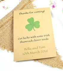 seed packets wedding favors wedding favor seeds shamrock seed packet wedding favour wedding