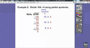divide 3 digits by 1 using partial quotients section 4 8 youtube
