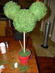 How To Make Ribbon Topiary Centerpieces by Topiary Centerpieces For Mickey Party Theme By Dillybeandesign