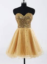 sparkly gold sequin strapless sweetheart short junior bridesmaid