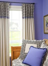 living room living room interior double blue polyester curtain