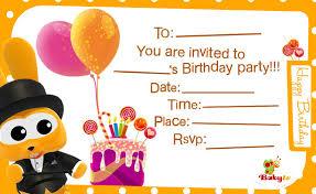 Invatations Babytv Birthday Invitations