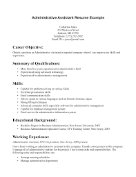 Job Objective Resume Example by Objective Resume Administrative Assistant Free Resume Example