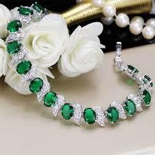 emerald bracelet images Emerald sterling silver bracelet jpg store jpg