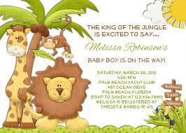 jungle boy baby shower invitation lion giraffe monkey invite