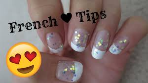 how to do french tip nails with tape diy easy youtube