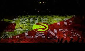 light show in atlanta the atlanta hawks turned their basketball court into a spectacular
