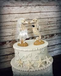 seahorse wedding cake topper beach wedding kissing seahorse couple
