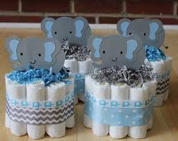 elephant decorations for baby shower mini 2 tier elephant cake blue gray by babeecakesboutique