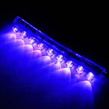 Marine Led Strip Lights by Zitrades 2 Pics Blue Color Motorcycle Car Boat 9cm 9 Led Neon