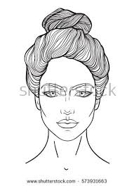woman face line drawing stock images royalty free images