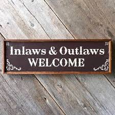 welcome sign rustic wood signs outdoor sign western home