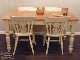 chair farmhouse dining table and chairs by pomponettevintage retro