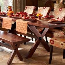 Dining Tables And Chairs Adelaide Rustic Dining Room Design With Trestle Pier One Wood Dining Table