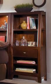 american drew tribecca 3 piece bookcase bedroom set in root beer