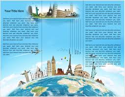 travel brochure template for students microsoft word travel brochure template travel or tourist brochure