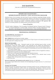 cost accountant resume good resume examples
