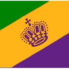 green mardi gras purple green and gold mardi gras flag with crown