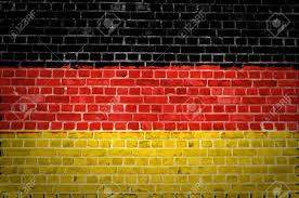 The Germany Flag An Image Of The Germany Flag Painted On A Brick Wall In An Urban