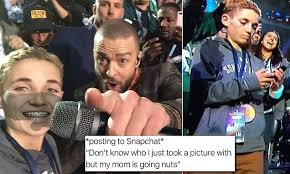 Malibus Most Wanted Meme - super bowl selfie kid becomes meme after halftime show daily mail
