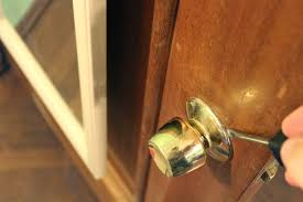 Door Knobs Kitchen Cabinets by Backyards Installing New Door Knob Img 3689 Kwikset Strike Plate