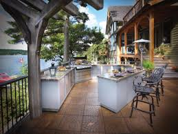outdoor kitchen island designs optimizing an outdoor kitchen layout hgtv