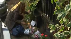george michael home fans lay flowers and burn candles at homes george michael news