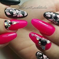 pink nails best variants of art designs