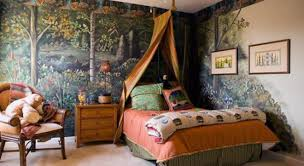 bedroom exquisite awesome jungle themed bedroom forest wallpaper