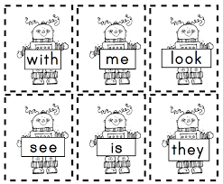 welcome to kinderglynn robot sight words