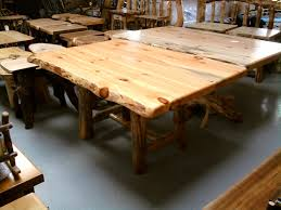 log dining room table rustic pine log dining table and awesome decoration amish kitchen