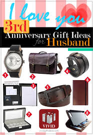 3rd wedding anniversary gift ideas for him s