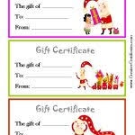 holiday gift certificate templates certificate templates inside