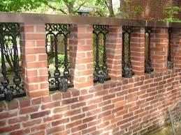 front yard with brick fences outdoor brick fences providing
