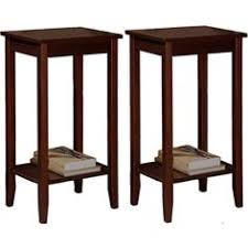 Curved Nightstand End Table Winsome Basics Solid Wood End Table Nightstand In Black