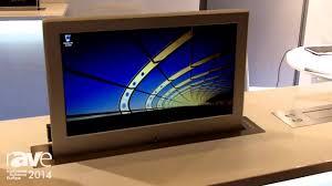 ise 2014 soltec exhibits its new retractable table top monitors