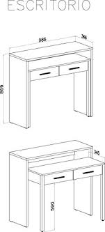 profondeur bureau home innovation table bureau extensible console bureau couleur